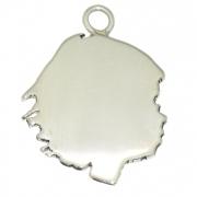 Silhouet Vrijstaand zilveren hanger