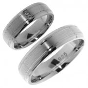 V25 zilveren Hartenwens vriendschapsringen 6.8 mm