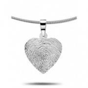 4101 vingerafdruk hanger hart 4101z 4101g 4101w