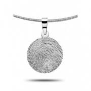 4102 ronde hanger vingerafdruk zilver of goud 4102z 4102g 4102w