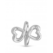 41106 Twin Hearts Silver Endless Charm