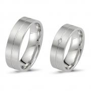 500965.02 strak design verlovingsringen zilver