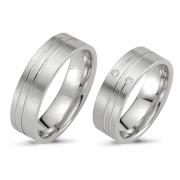 503065.02 brede zilveren relatieringen met een mooie lijn