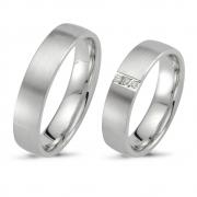 504650.02 relatieringen zilver met 3 briljanten of zirconia's