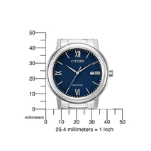 AW1670-82L stalen herenhorloge Citizen met blauwe wijzerplaat