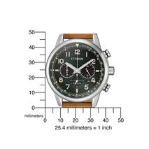 CA4420-21X sportieve chrono Citizen met groene wijzerplaat