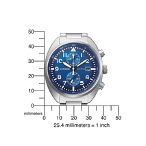 CA7040-85L retro chrono staal Citizen blauwe plaat