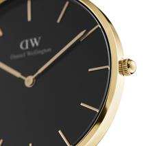 DW00100347 Daniel Wellington Unisex Horloge Petite Evergold Black Doublé 32 mm