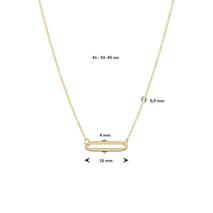 .Paperclip collier 40.22744 Goud 45 cm