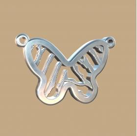 FPH905 vingerafdruk zilveren hanger vlinder met collier Royolz