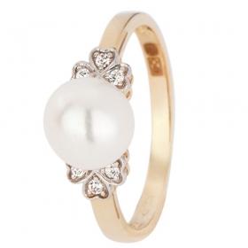 Set goud met biwaparel BU025-G ring