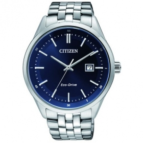 BM7251-53L Citizen stalen herenhorloge met blauwe wijzerplaat