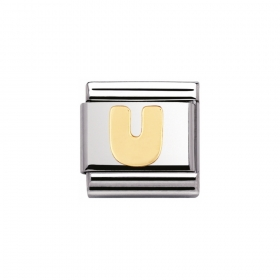 03010121 U letter Nomination staal met goud
