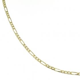 .9.3 gram massief 18 krt. gouden figaro collier 51 cm