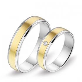 0368 Alliance trouwringen met 0,04 crt. briljant 5 mm