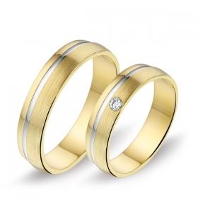 0436 Alliance trouwringen met 0,05 crt. briljant 5 mm