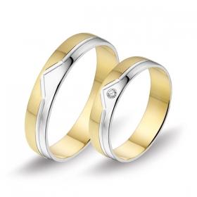 0445 Alliance trouwringen met 0,03 crt. briljant 4,5 mm