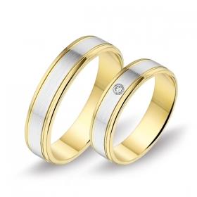 0466 Alliance trouwringen met 0,05 crt. briljant 5 mm