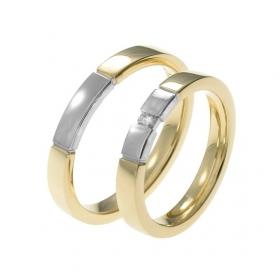 0610 Alliance trouwringen met 0,05 crt. briljant 4 mm