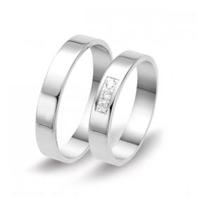 1201 Alliance trouwringen met 0,09 crt. briljant 4 mm