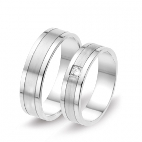 1213 Alliance trouwringen met 0,04 crt. briljant 5 mm