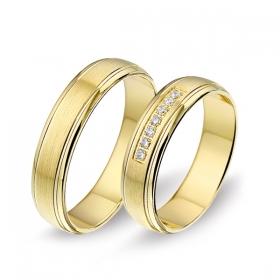 1407 Alliance trouwringen met 0,07 crt. briljant 5 mm