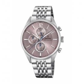 F20285 herenhorloge met vintage rose wijzerplaat