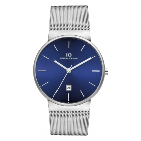 0971 herenhorloge Danish Design mesh band en blauwe wijzerplaat IQ68Q971