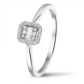 0435-009 Damesring met 0.09 crt. diamant