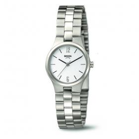 3082-04 eenvoudig klein dameshorloge Boccia titanium