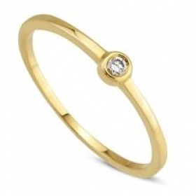 Damesring TRI017-G lieve ring met 0.03 crt. briljant