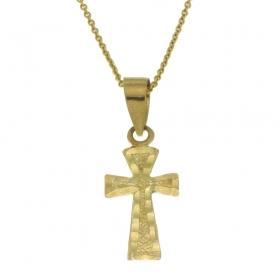 Kruisje met collier FER025 Hartenwens