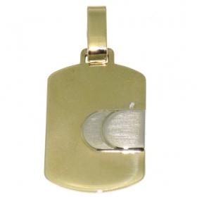 .4.2 gram bicolour gouden graveerplaat occasion