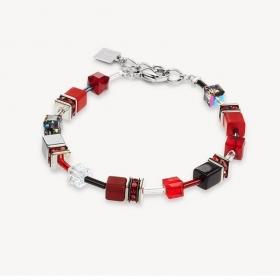 0312 armband Red-Grey Coeur de Lion 4014300312