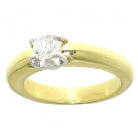1619-046 zeer voordelige zware ring met grote briljant