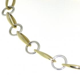 24.4 gram collier met open gouden schakels