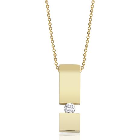 Hanger met collier geelgoud TRI060-G 0.05 crt. briljant
