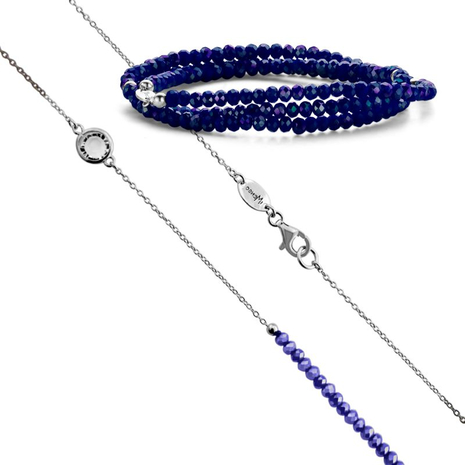 .27.0218+27.1218 NEW BLUE armband en collier MY iMenso