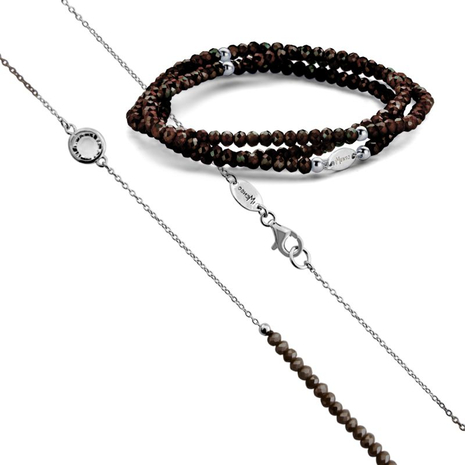 .27.0221+27.1221 D.BROWN armband en collier MY iMenso