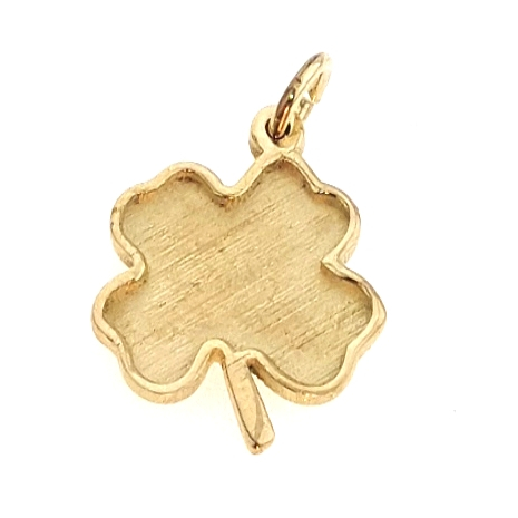 006 Hanger klavertje vier gemaakt van uw eigen goud voor hars-as