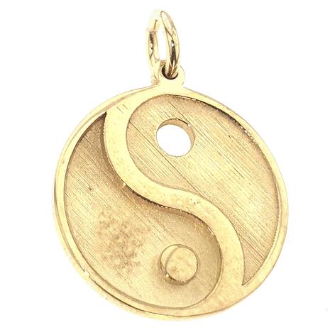 011 Hanger Yin Yang voor as in hars gemaakt van uw eigen goud
