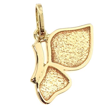 012A Hanger halve vlinder gesmeed van uw eigen goud