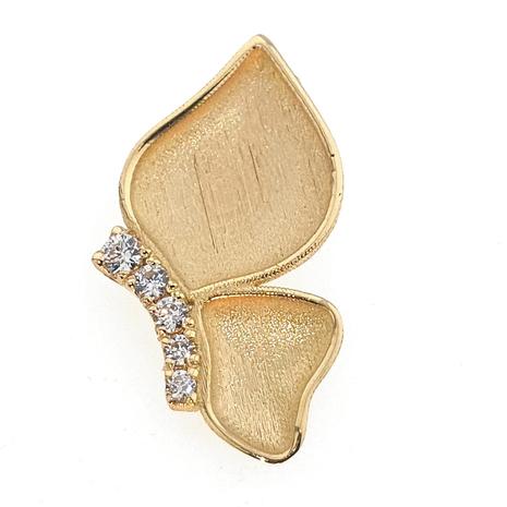 012 Hanger halve vlinder met 0.09 crt. briljant gemaakt van uw eigen goud