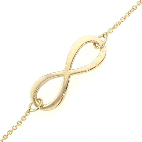 014 Gouden armband infinity gemaakt met uw eigen goud