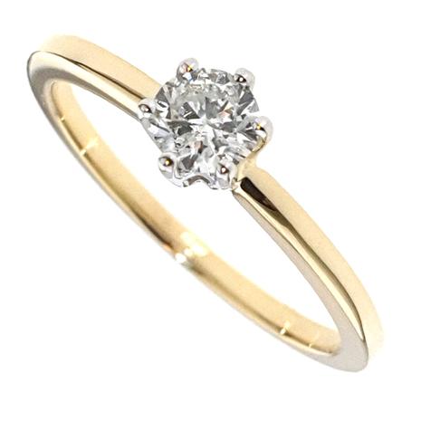 0699-032 Voordelige gouden ring met een briljant van 0.32 crt.
