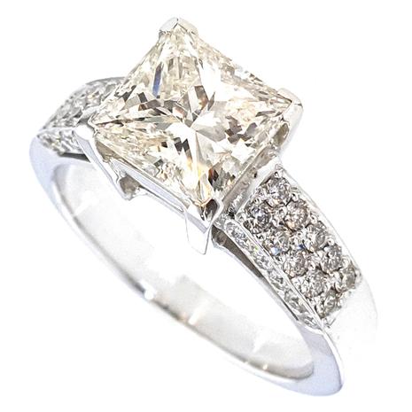 13029-248 Solitairring witgoud met 2.48 crt. diamant