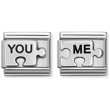 33921120 Nomination 2 schakels Puzzelstukje You and Me