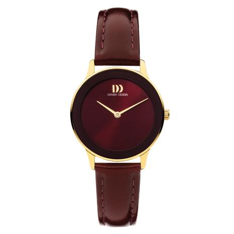 1288 Dameshorloge Danish Design Nostalgi Burgundi Gold IV27Q1288