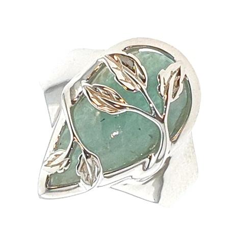 6300950193 Eterno Damesring Zilver Verguld Amazoniet Mintgroen