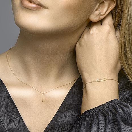 .Paperclip collier 40.22527 Goud 45 cm